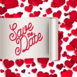 Save the date with  red paper hearts — Stock Vector #78388172