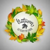 Autumn back to school illustration — Stock Vector