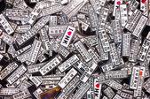 Souvenir novelty magnets at a Hong Kong street market — Stock Photo