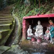 Outdoor shrine containing statues of the Goddess of Mercy and Guan Yu, Hong Kong — Stock Photo #63618803