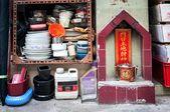 Street shrine on Tai Ping Shan Street, Hong Kong. — Stock Photo