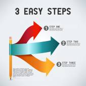 Tre enkla steg — Stockvektor