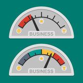 Speedometer business development — Stock Vector