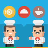Chef showing thumbs up concept — Stock Vector