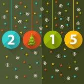 Flat design vector illustration. 2015 colour Text Design — Vetor de Stock