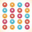 Set of colorful bulb flat icons. Vector illustration eps10 — Stock Vector #60993685