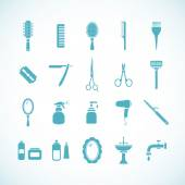 Set of hairdressing equipment icons. Vector illustration eps8 — Stock Vector