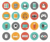 Set of techology and multimedia devices icons — Stock Vector