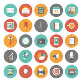 Set of flat office and business icons — Stock Vector