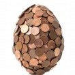 One eurocent egg — Stock Photo #58424987