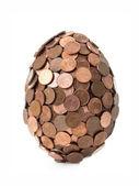 One eurocent egg — Stok fotoğraf
