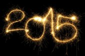 Sparking 2015 Year — Stock Photo