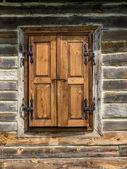 Rustic window shutters — Stock Photo