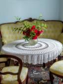 Retro style living room — Stock Photo