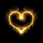 Sparking heart — Stock Photo
