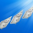Money rising in the air — Stock Photo #63405301