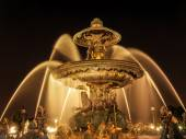 Fountain on Place de la Concorde — 图库照片
