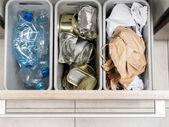 Household garbage segregation — Stock Photo