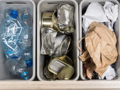 Household garbage segregation — Stock Photo