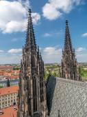 Gothic cathedral towers — Stock Photo