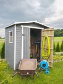 Garden tools shed — Stock Photo
