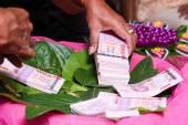 NAKRONPHATHUM THAILAND -JULY 6: Wedding ceremony July 6 2014,Tha — Stock Photo