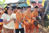 Nakronphathum-thailand-juli 6: hochzeitszeremonie 6. juli 2014, th — Stockfoto