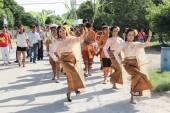 NAKRONPHATHUM THAILAND -JULY 6: Wedding ceremony July 6 2014, Th — Stock Photo
