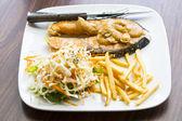 Salmon steak food — Stock Photo