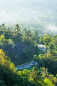 Car driving on the curve road Doi inthanon — Stock Photo