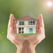 Cover your house — Stock Photo