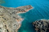 Basaltic columnar joint coast — Stock Photo