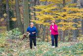 Coppia di anziani jogging — Foto Stock