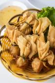 Fried shrimp wontons — Stock Photo