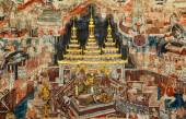 Over 300 year old mural paintings in Thailand. — Stock Photo