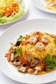 Modern Thai food Creamy omelet. — Stock Photo