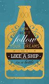 跟随你的梦想 — 图库矢量图片