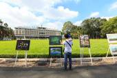 Reunification Palace or Independence Palace (DINH THONG NHAT) in Vietnam heritage photography exhibition event — Stock Photo