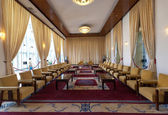Reception room at the Reunification Palace. It was used as headquarters by the South Vietnamese cabinet during the Vietnam War. — Stock Photo