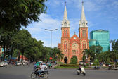 Saigon Notre Dame cathedral, French architecture downtown district 1, Ho Chi Minh City — Stock Photo