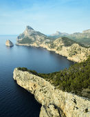 Landscape view from the cliff Cap de Formentor — Foto Stock