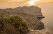 Beautiful sunset at Mallorca island, Cap de Formentor cliff view — Foto Stock