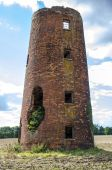 Ruined old mill tower — 图库照片