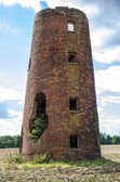 Ruined old mill tower — Foto Stock