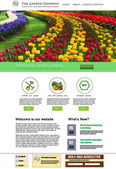 Garden website presentation — Stockvektor