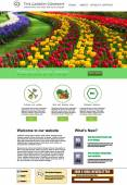 Garden website presentation — Vettoriale Stock