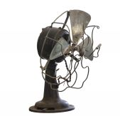 Old rusty transparent fan — Foto Stock