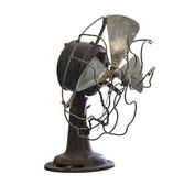 Old rusty transparent fan — Stockfoto