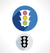 Traffic light icons. — Stockvektor