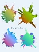 Reihe Planet City. — Stockvektor